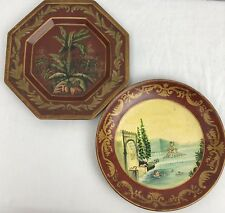 Set of 2 Raymond Waites for Toyo Trading Co. Decorative Floral Plates