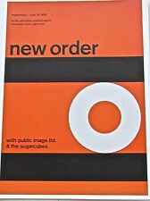 New Order Band Mini-Concert Poster Reprint 13X10 Framable Optical Artwork