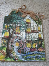 New American Greetings House Home Gift Bag Tote Dog Birds Kinkade Cottage