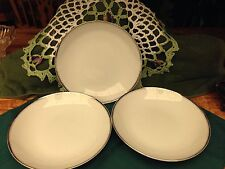 Three Celebrity Fine China Made in Japan White # Anniversary Soup Bowls 7 3/4""
