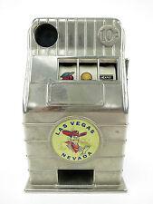 Vintage Las Vegas Slot Machine Metal Coin Bank Jackpot Vegas Nevada Collectible