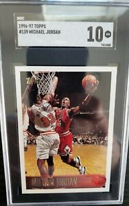 1996-97 Topps Michael Jordan SGC 10 Gem Mint Card The GOAT!  Beautiful! Bulls