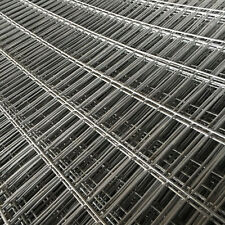 GALVANISED STEEL RECTANGULAR MESH PANEL FENCE METAL GARDEN FENCING 1.8M x 0.6M