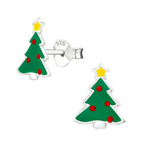 ICYROSE Sterling Silver Christmas tree Stud Earrings for Girls & Women 471