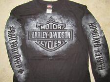 HARLEY DAVIDSON Smokey Logo LS Mens MED Shirt Daytona #Roll Your Own FL Smoke M