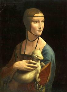 Leonardo da Vinci Lady with an Ermine Giclee Art Paper Print Poster Reproduction