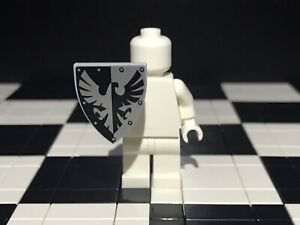 Lego Black Falcon Knight Minifigure Shield x1 With Black And Silver Pattern