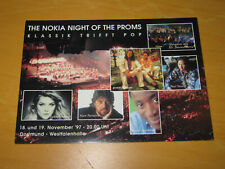 THE NOKIA NIGHT OF THE PROMS - DORTMUND WESTFALENHALLE - PROMO POSTCARD