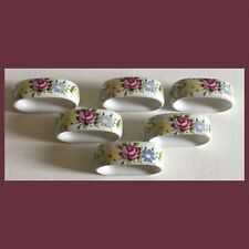 Royal Porzellan Bavaria - Set Of 6 Floral Napkin Rings