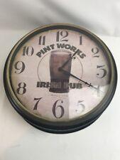 "STERLING & NOBLE Irish Pub Clock Pint Works Bar 18"" x 6"""