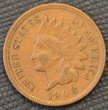 1908 VF-XF Indian Head Cent