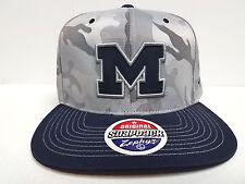 Michigan Wolverines Zephyr Cap Flat Brim Snapback Gray Camo Brigade Hat