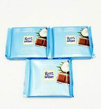 Ritter Sport Coconut / Cocos  Genuine Milk Chocolate lot of 3  Shipped from USA