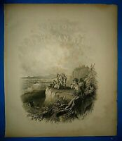 1856 Colton Atlas ~ FRONTISPIECE ~ Old Antique Original ~ Free S&H
