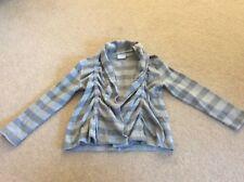 Free P&P Girl's Next stripy grey jacket cardigan age 5 - 6 years