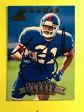 SIGNED TIKI BARBER 1997 PINNACLE ROOKIE FOOTBALL CARD AUTOGRAPH GIANTS HOF