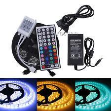 5M 300LEDs SMD 5050 RGB LED Streifen Leiste Lichterkette+ 44Key+ 5A Netzteil