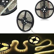 5M Warm White 300 LEDs 3528 SMD Waterproof Flexible LED Strip Light Tape Rope
