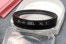 B+W MINOX 35 EL #1 CLOSE-UP PUSH-ON LENS IN CASE AND BOX - 31MM ID