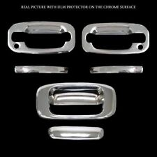For Chevrolet Silverado 2000 01 02 03 04 05 06 Chrome Door Handle Tailgate Cover