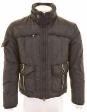 TRUSSARDI Mens Padded Jacket IT 50 Large Black Nylon  FP06