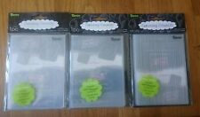 3 Darice Embossing Folders - Flames Background, Birthday Candles & Thin Lines