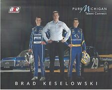 "2017 BRAD KESELOWSKI +2 OTHERS ""PURE MICHIGAN TALENT"" NASCAR CWTS TRUCK POSTCARD"