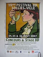 AFFICHE 40x60cm 19 eme FESTIVAL BD DE SOLLIES  VILLE TARDI  2007