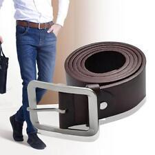 Casual Men's Faux Leather Belt Pin Belts Waistband Buckle Waist Strap Coffee GA