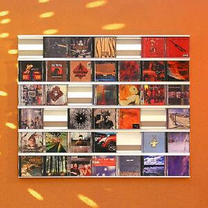 SIGMARAIL CD-Regal-System® SR7 - CDs als Wandbild
