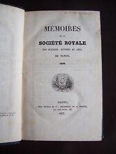 Société des sciences de Nancy 1836-1837