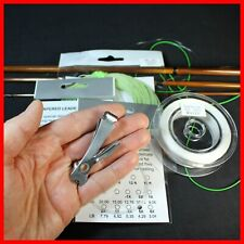 Fly Line 4wt Weight Forward Floating + 20 lbs Backing + 5X Leaders + Clip/Nail
