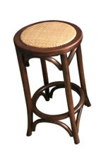 Classic French Design Natural American Oak Timber Brown Bar Stool - 2 Pieces
