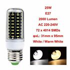 E27 B22 GU10 E14 G9 4014 SMD LED LAMP CORN BULB LIGHT 220-240V WARM COOL WHITE