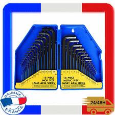 """7 pièces Silverline HK09 Imperial Hex Outil Clé Set 3//32/"""" à 3//8/"""""""