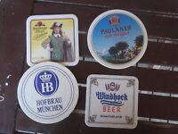 4X RETRO GERMAN BEER  COASTERS