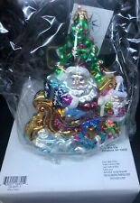 "Christopher Radko Christmas Ornament ""Trim A Tree O"" New With Tag/Box & Cert."