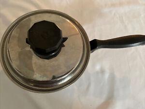 "New Era Cookware T304 Surgical Steel 7 Ply w/ Titanium 8.5"" Saucepan Pot!!"