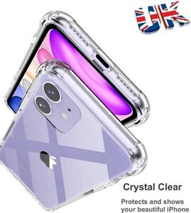 CLEAR Case For iPhone 11 Pro Max XR XS Max SE SOFT TPU Cover Shockproof Silicone