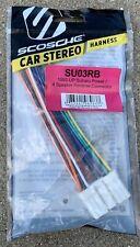Scosche SU03RB Factory Radio Wire Harness Subaru 93-08