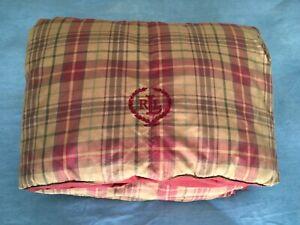 Ralph Lauren Kensington Plaid Down Alternative Twin Comforter Rust/Tan