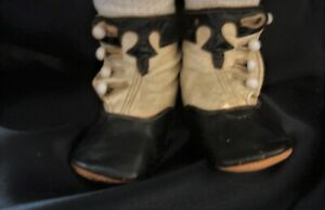 Antique Leather Boots for Large Antique French & German Dolls