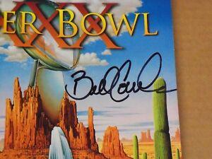 Bill Cowher, Pgh Steelers, Signed Super Bowl XXX Program, Crisp