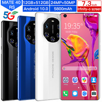 "Mate 40 RS 7.3"" 5G Smartphone Android 10.0 10-Core 5600 mah 12GB+512GB MTK6799"