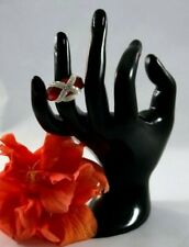"""Ring Women Oversize Red Rhinestone on the front Size 7.5 (~0.698"""" diameter)"""