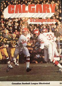 Vintage 1971 Calgary Stampeders Program—CFL—Sept. 15 vs. Winnipeg Blue Bombers