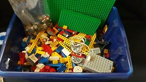 Lego 1980s Retro Job Lot 2kg Bricks Cogs Idea Books