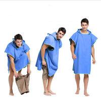 Surf Poncho Handtuch Kapuze  Erwachsene Frauen Männer Mikrofaser Umkleidehilfe