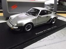 PORSCHE 911 930 Turbo 3.0 1975 silver met silber Spark Resin Highenddetail 1:43