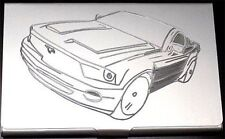 FORD MUSTANG Engraved Business Card Wallet ID Case Holder Patch Gift BUS-0131
